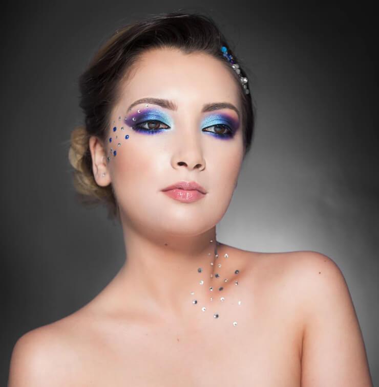 machiaj creativ albastru diana raicu makeup